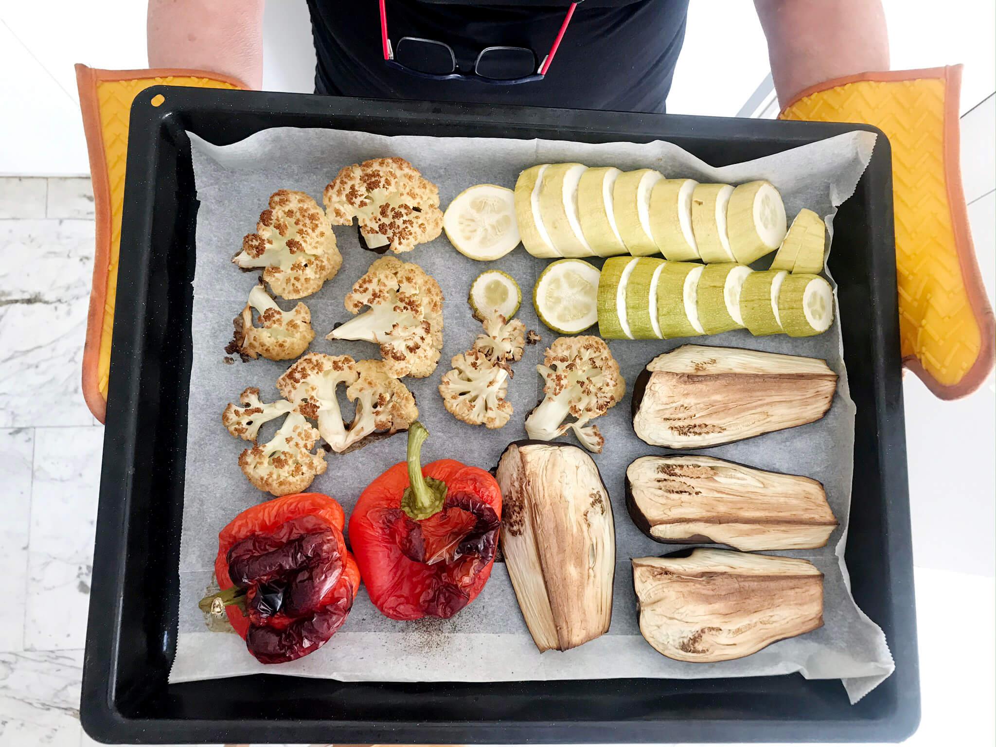 מגש ירקות בתנור